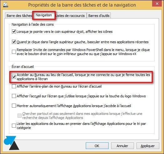 Inicie Windows 8.1 directamente en el escritorio