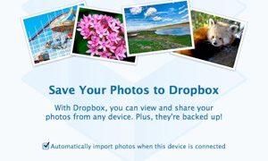 Envío automático de fotos de prueba de Dropbox