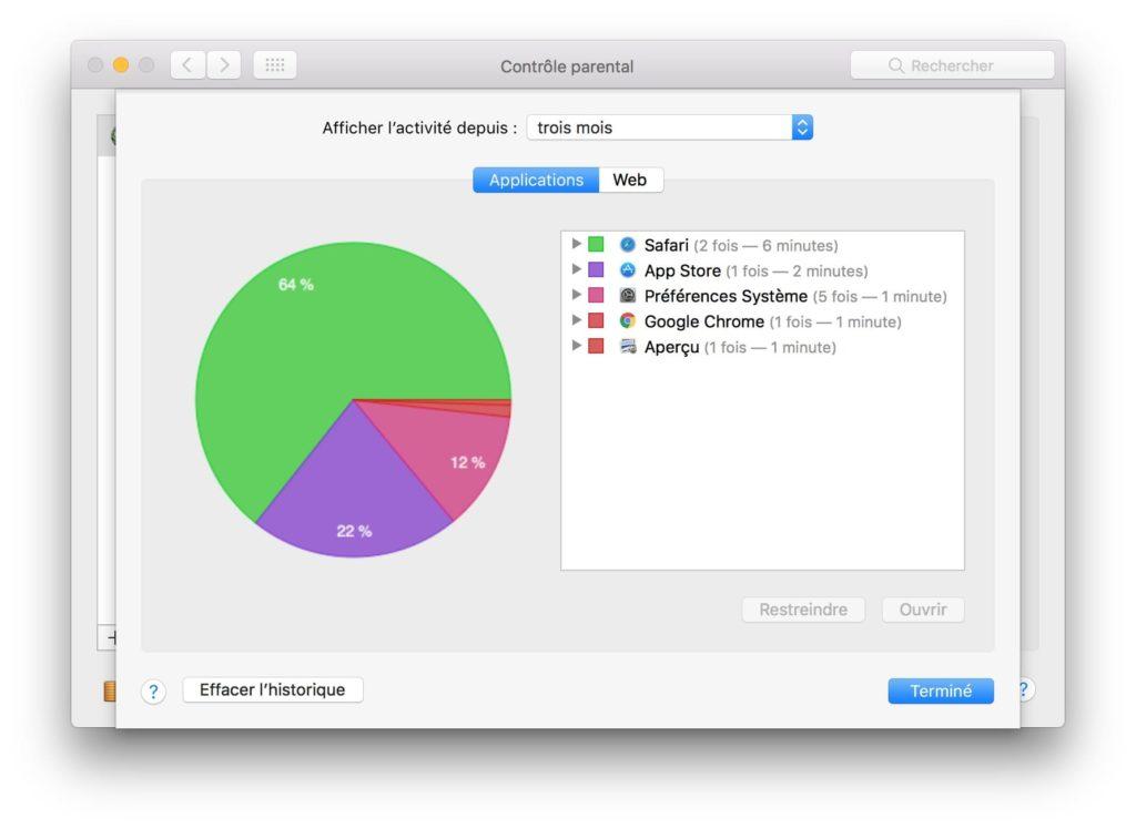 Control parental de Mac OS Sierra (10.12) : instrucciones de uso 7