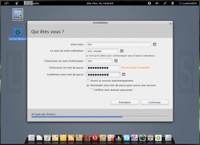 Luninux OS, instalarlo en un disco duro en blanco 7