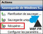 Restaurar un archivo con la herramienta Copia de seguridad de Windows Server 3