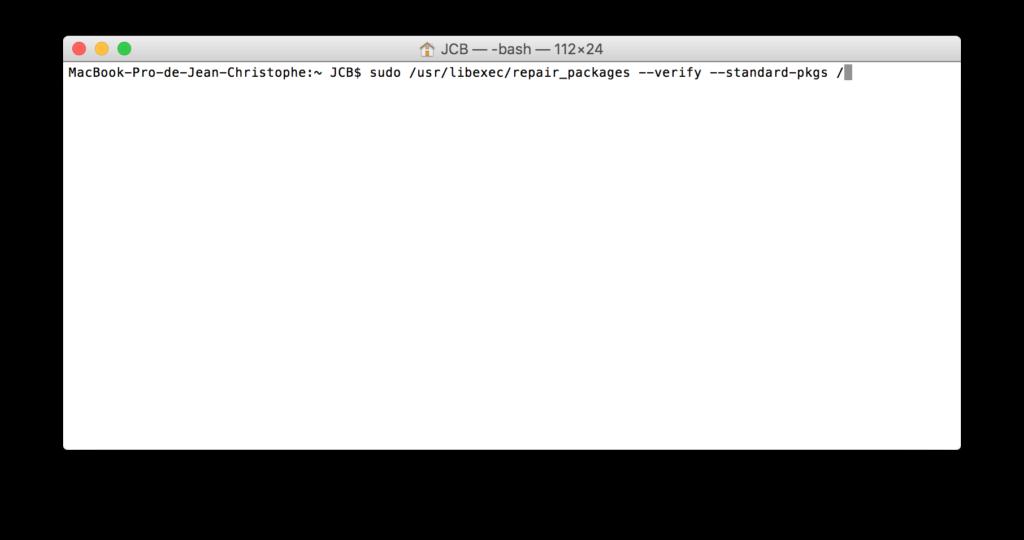 Reparar los permisos de El Capitan con el Terminal (OS X 10.11) 1