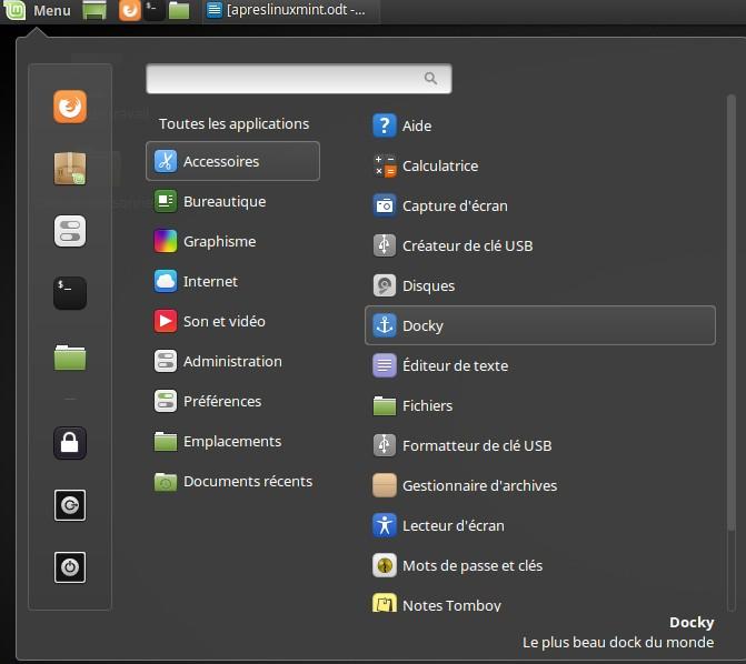 Un muelle para Linux Mint 18 6
