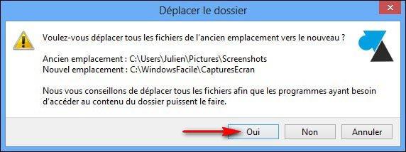 Windows 8: cambiar la carpeta de capturas de pantalla