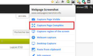 Toma una captura de pantalla de una página web completa de Chrome