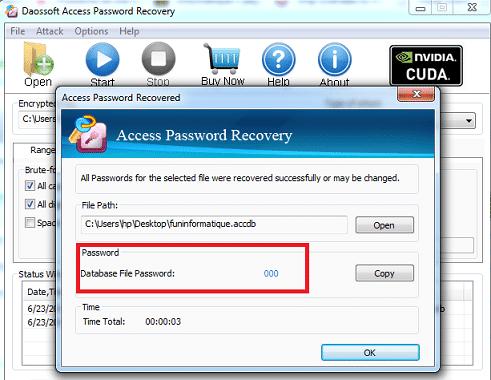Abrir una base de datos Access protegida por contraseña