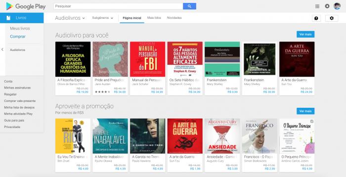 Google comienza a vender audiolibros en Brasil y debuta con promociones 3
