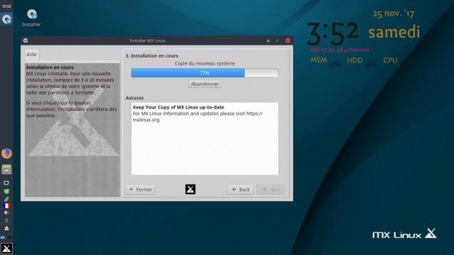 Instalé MX Linux 17 Beta 2 6