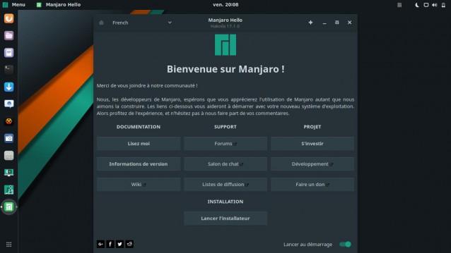 Nueva actualización de Manjaro con Gnome 2