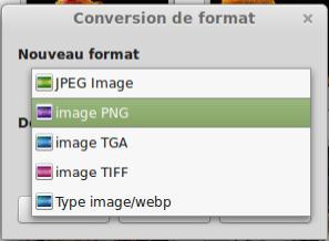 Cambiar el formato de su imagen o foto