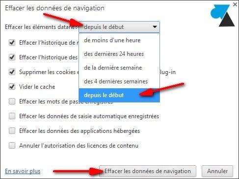 Vaciar los archivos temporales de Google Chrome