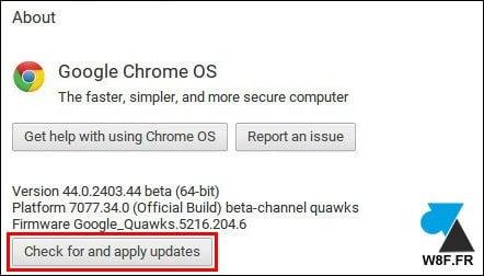Actualizar ChromeOS en un Chromebook