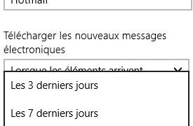 Mail: configurar el periodo de sincronización