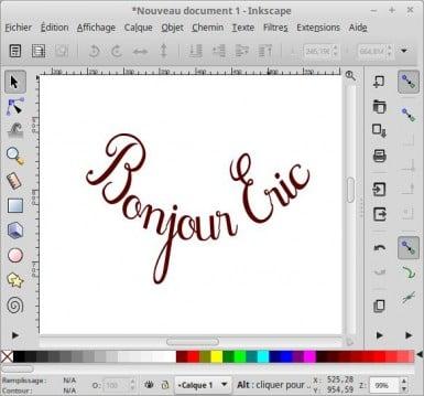 Texto curvo con Inkscape
