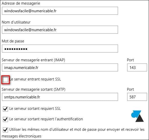 Mail: añadir una dirección numéricamente válida