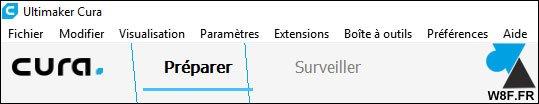 Cura: traducir el software al francés
