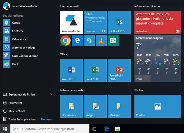 Windows 10: organizar el menú Inicio 7