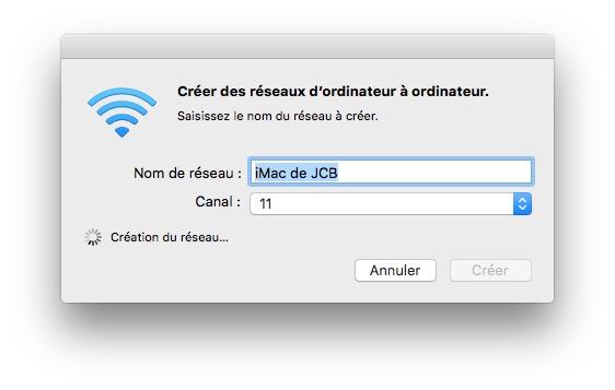 Crear una red WiFi en Mac OS X El Capitan para invitados (ad hoc) 3