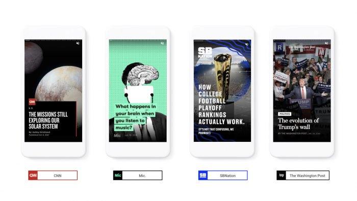Google se inspira en la capacidad de Snapchat para distribuir noticias