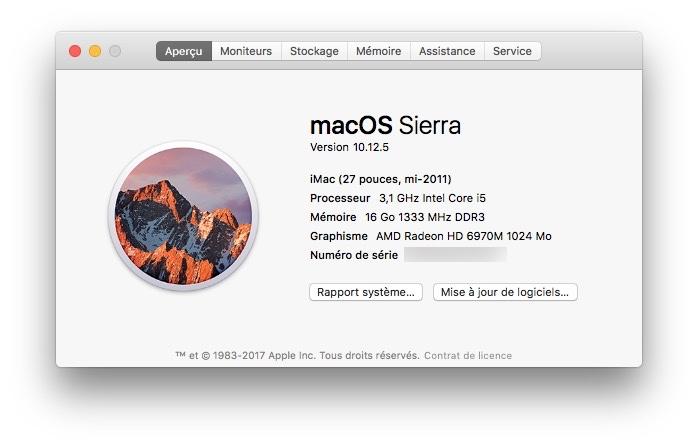 macOS Sierra 10.12.5 : actualización disponible 1