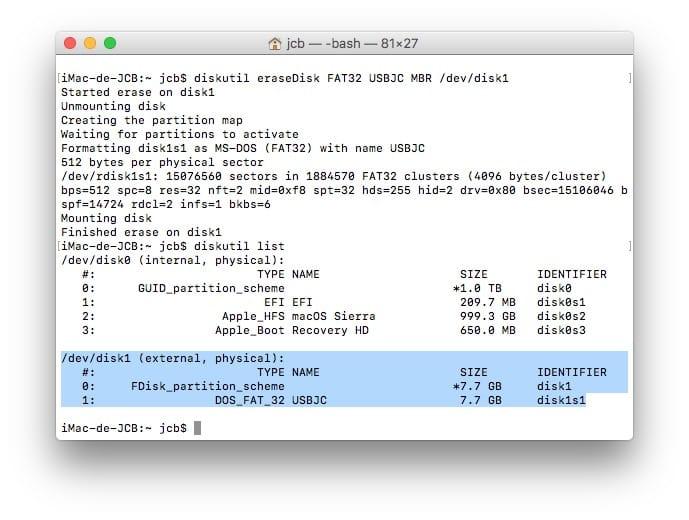 Formato en Mac con el Terminal (Sierra, El Capitan...) 4