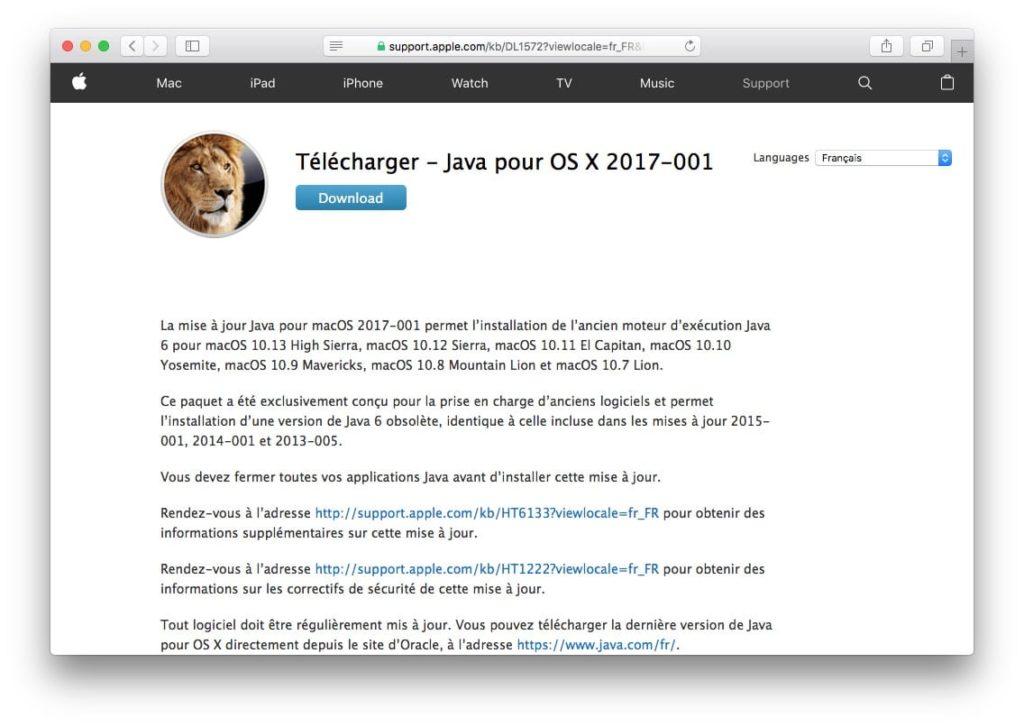 Mac os x java 6 download