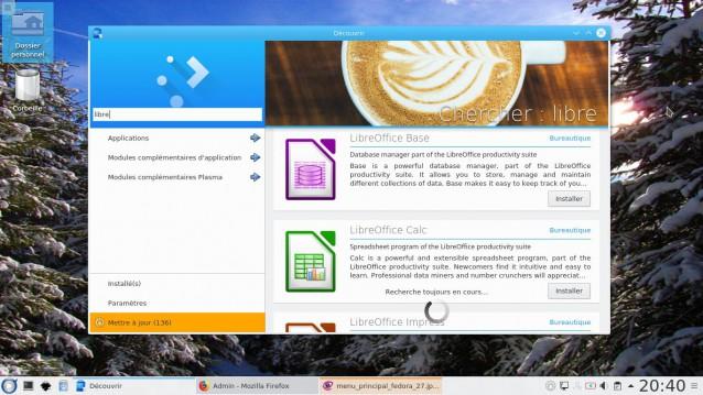 Fedora 27 con KDE 8