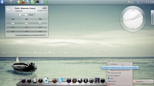 Cairo-dock, el lanzador de aplicaciones que rápidamente se vuelve indispensable 3