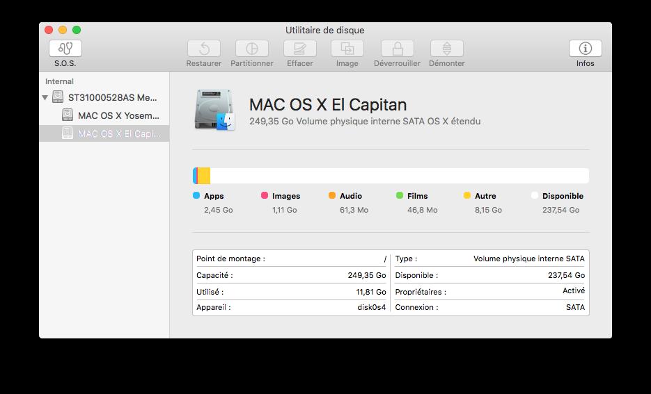 Utilidad de disco El Capitan (Mac OS X 10.11) 8