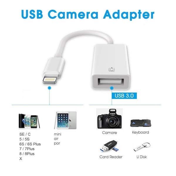Conecte una llave USB a un iPhone / iPad / iPod 4