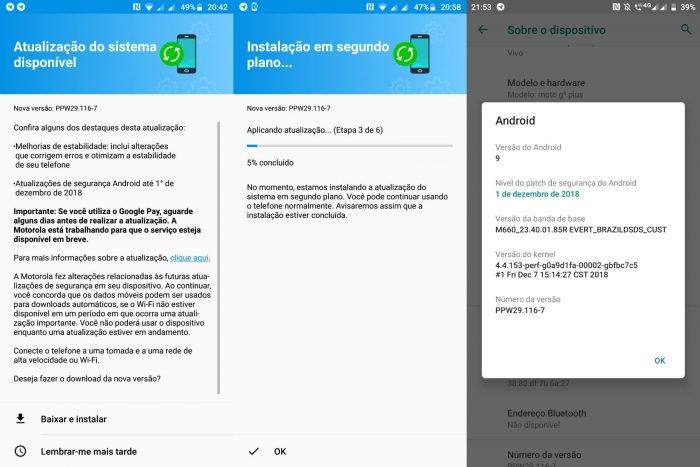 Moto G6 Plus recibe Android 9 Pie en pruebas en Brasil 3