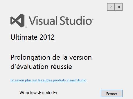 Visual Studio 2012: amplía el periodo de evaluación 8