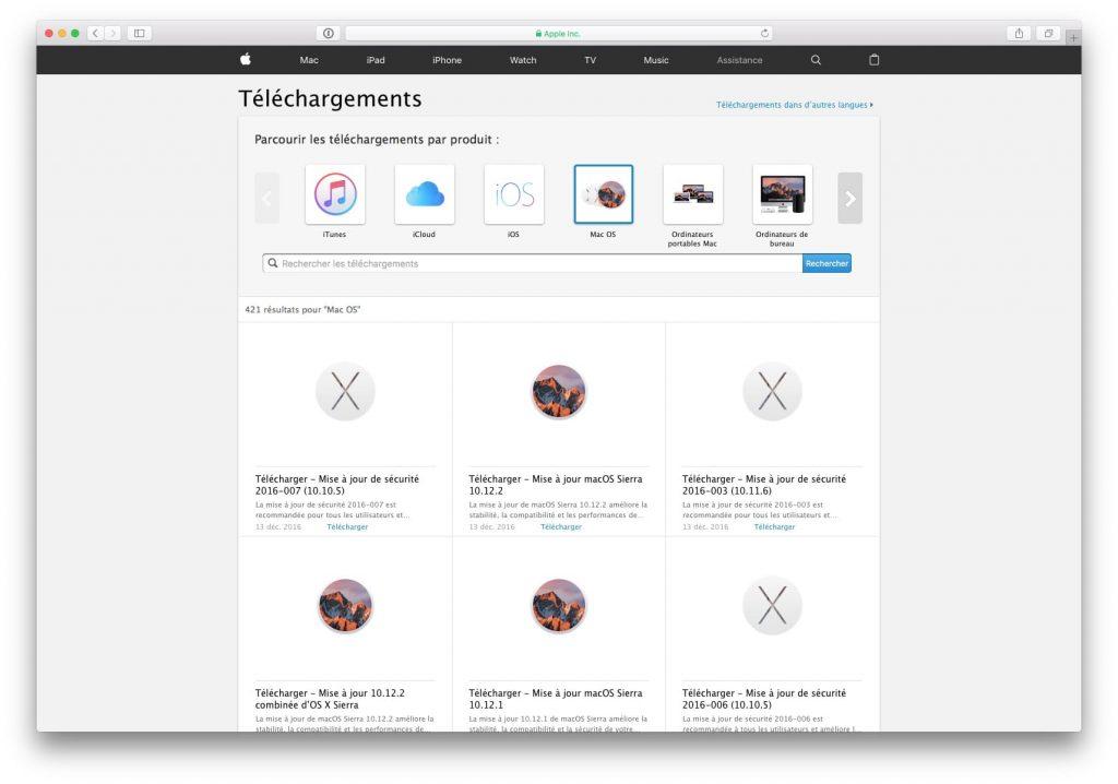 Descarga las actualizaciones de Mac directamente (Sierra, El Capitan...) 6