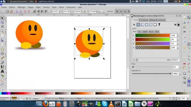 Inkscape, dibuja un carácter simple. 10