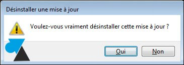Desinstalación de una actualización de Windows
