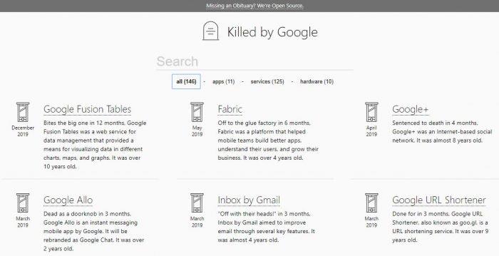 Hay un cementerio para los productos de Google, que no fue hecho por él. 2