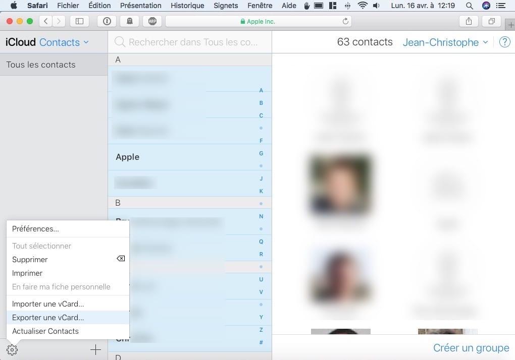 Exporta tus contactos de iPhone, iCloud y Mac 8