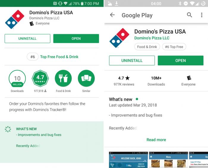 Google Play Store recopila los cambios de cada aplicación y prueba el rediseño en Android.