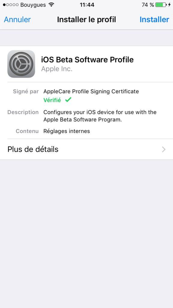 Instalar iOS 10 beta public 4
