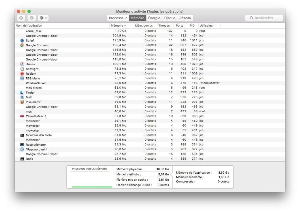 Monitor de actividad Mac: rendimiento, aplicación bloqueada.... 6