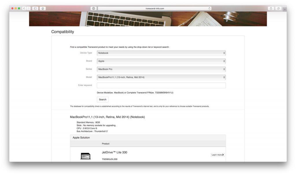 Almacenamiento en el MacBook: aumenta la capacidad de 64 a 256 GB con JetDrive Lite 5