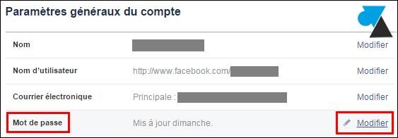 Cambiar la contraseña de Facebook 2