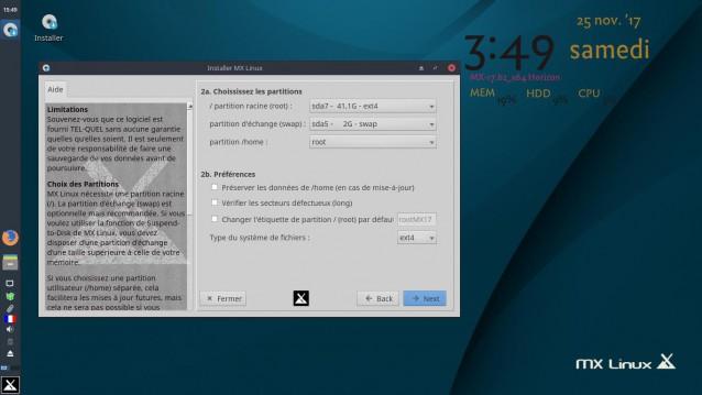 Instalé MX Linux 17 Beta 2 4