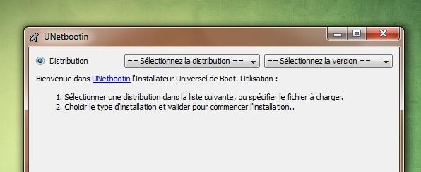 UnetBootIn para iniciar su distribución desde una llave USB 2