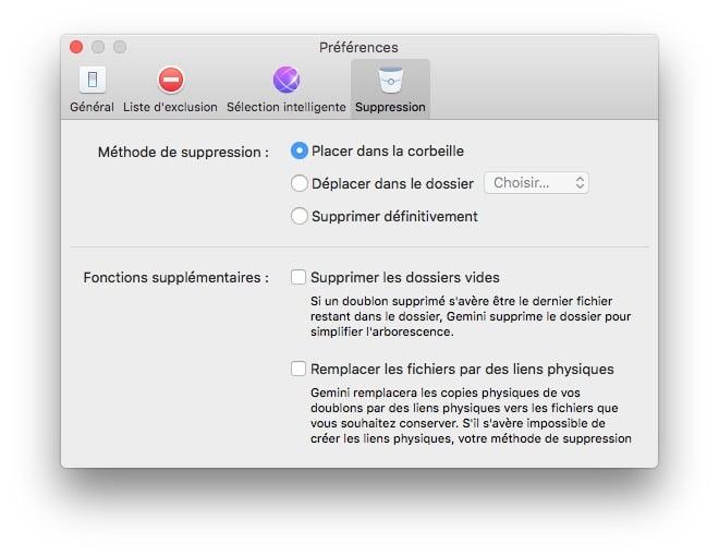 Eliminar duplicados en Mac OS X El Capitan con Gemini 2