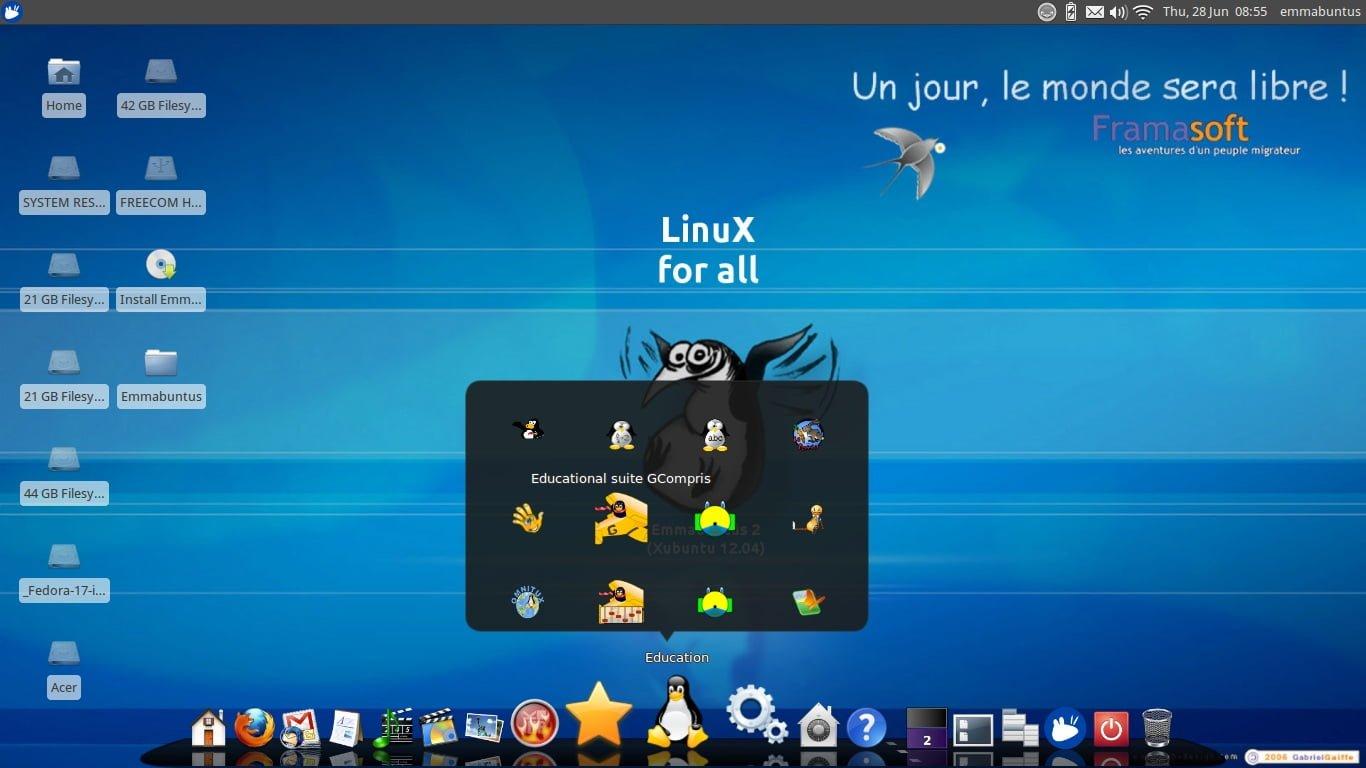 La distribución de Linux para un buen comienzo: Emmabuntüs