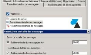 Exchange: establece el tamaño máximo de los mensajes