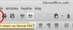 Exportación de LibreOffice a formato PDF