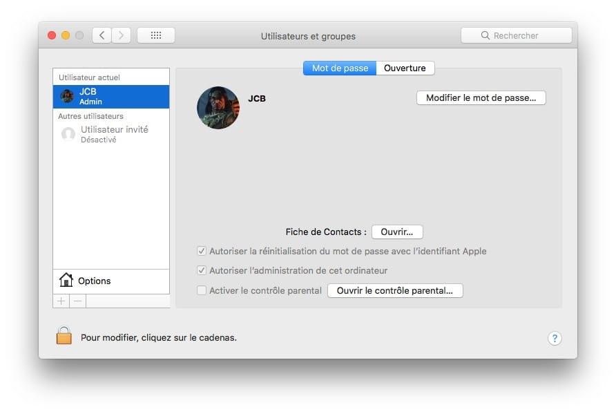 Cambiar la contraseña de tu Mac (macOS / Mac OS X) 2
