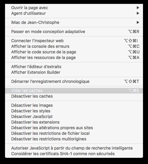 Borrar la caché de Safari Mac OS X El Capitan (10.11) 2